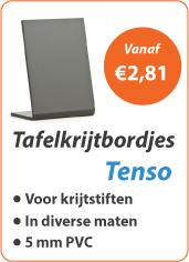 Tafelkrijtbordjes Tenso