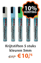 Krijtstiften 5 stuks kleuren 5mm