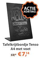 Tafelkrijtbordje Tenso A4 met voet